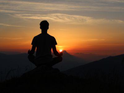 meditating man in the sun, Unsplash